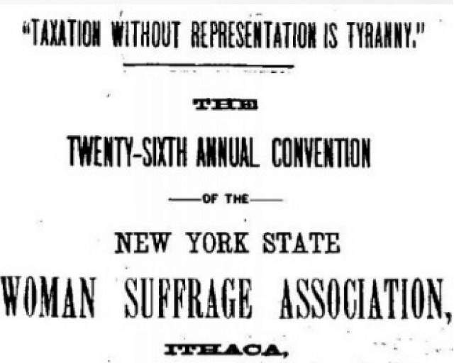 Twenty-Sixth NY State Suffrage Convention