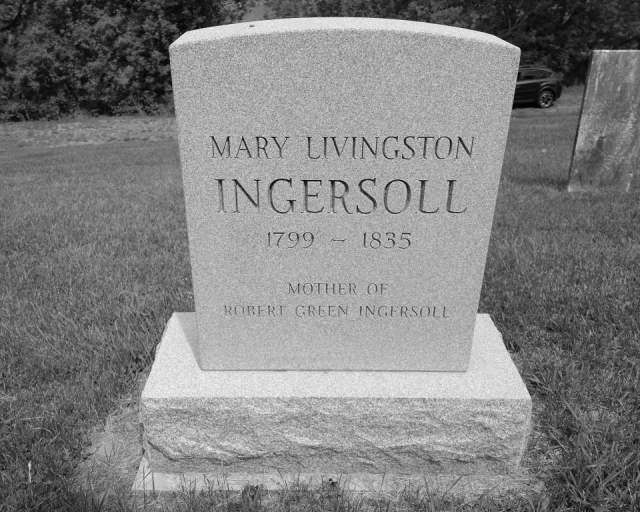 Grave of Mary Livingston Ingersoll Located