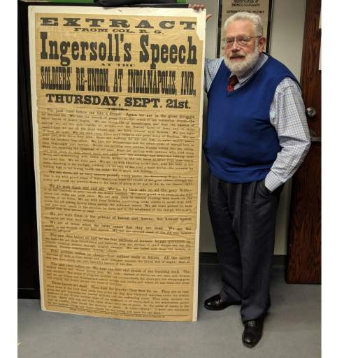 Flynn with Rare Giant 1876 Broadside