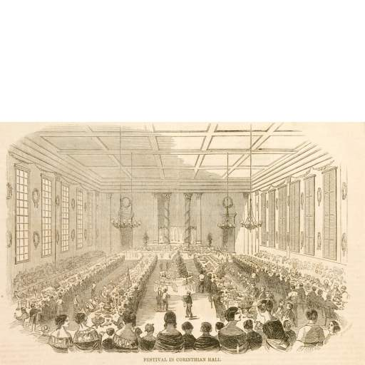 1851 View Inside Corinthian Hall
