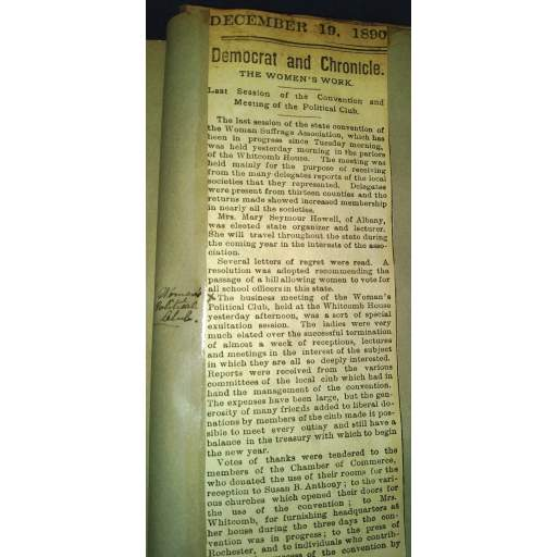 1890 Convention News Story