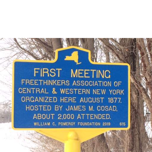 Historic Marker at Huron, New York