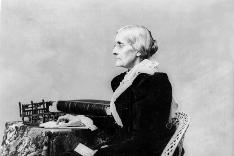 Susan B. Anthony Debates a Local Attorney on Suffrage