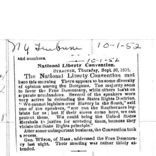 National Liberty Convention news clipping
