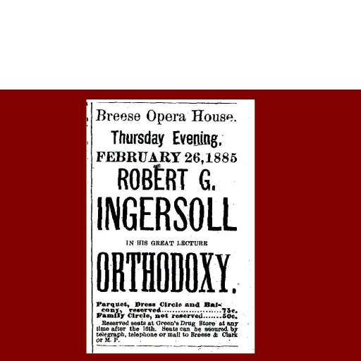 Ingersoll lecture ad