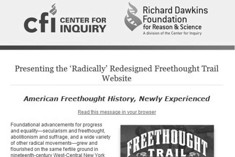 Presenting the 'Radically' Redesigned Freethought Trail Website