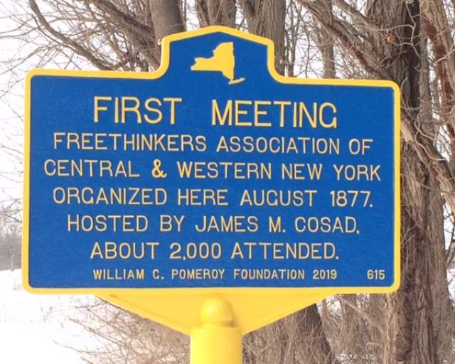 Freethought Meeting Site Receives Historical Marker