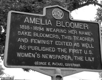Amelia Bloomer Historic Marker