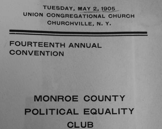Fourteenth Monroe County Political Equality Club Convention