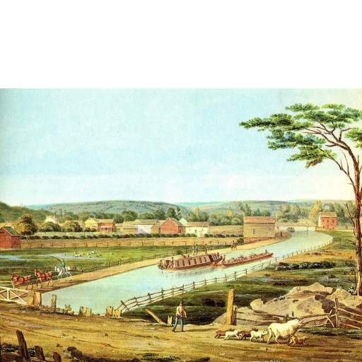 The Erie Canal, 1829